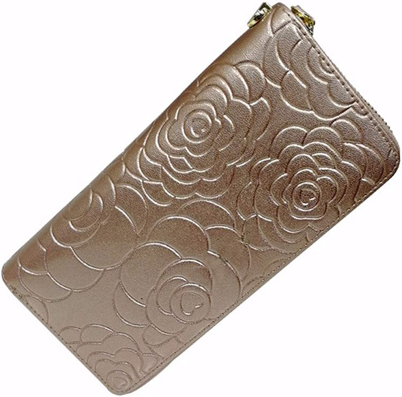 Surnoy Ladies Leather Wallet, Fashionable top Coat, Zipper Hand Bag, Lady Wallet,Fragrant Powder