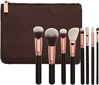 Letuwj Makeup Face & Eye Beauty 8pc Brushes Set with Travel Pouch Black 1