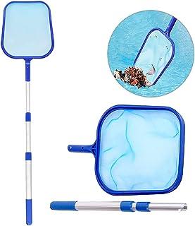 ZoneYan 1 st pool bladnät, pool skimmer nät, pool rengöringstillbehör, pool nätrengöring, med teleskopisk stolpe, 110 cm, ...