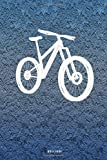 Notebook: Lined Notebook Journal - Mountain bike illustration