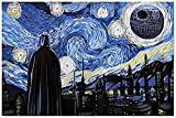 SIGNSHM Starry Night With Star War Style Retro Metal Tin Sign Plaque Poster Wall Decor Art Shabby Chic Gift Suitable for indoor/outdoor 12x8 Inch
