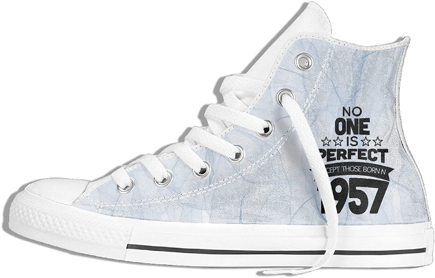 Efbj No One is Perfect 1957 Unisex Casual High Top Canvas Sneaker for Men and Women