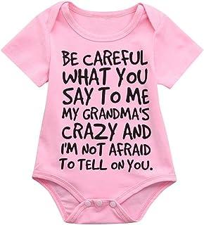 31a7e4efbd Winsummer Funny Be Careful What Letter Infant Newborn Baby Boy Short Sleeve  Bodysuit Romper Outfit Summer