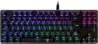 Teclado Mecânico Gamer T-Dagger Bora Preto RGB Switch Marrom T-TGK315
