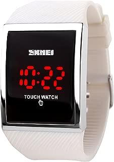 Gosasa Touch Screen Digital LED Waterproof Men Womens Sport Casual Wrist Watches Black