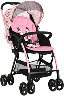 KQHSM Stroller Can Sit and Recline Lightweight Folding Two-Way Portable Four-Wheeler (Color : B)