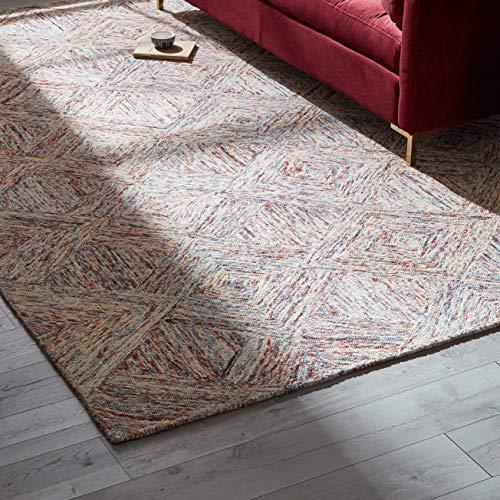 Amazon Brand – Rivet Motion Modern Patterned Wool Area Rug, 8' x 10' 6', Multi