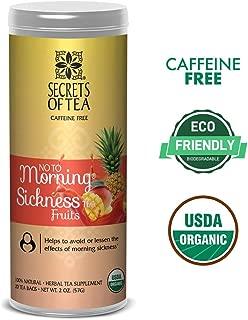 Secrets of Tea - No To Morning Sickness - Pregnancy Tea-Certified USDA Organic No Caffeine- Morning Sickness Relief,Nausea, Constipation (Fruits)