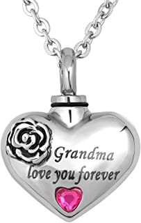 LuckyJewelry Love You Forever Urn Cremation Necklaces for Ashes Jewelry