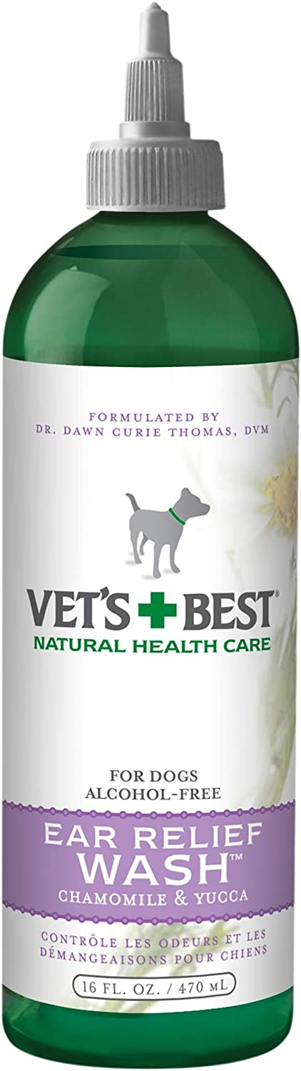 Vet's Best Ear Relief Washer Cleaner for Dogs 16 oz Refell