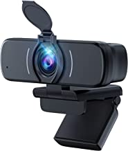 Webcam, Webcam with Microphone, USB Webcam with 3D Denoising and Automatic Gain, 1080p Webcam for Video Calling, Online Cl...