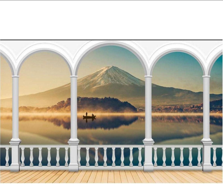 Tienda 2018 Papel tapiz en 3D para para para la sala Columna romana del monte Fuji foto de la parojo murales de papel tapiz fondo de pantalla personalizado papel tapiz 3d-200X140CM  Todo en alta calidad y bajo precio.