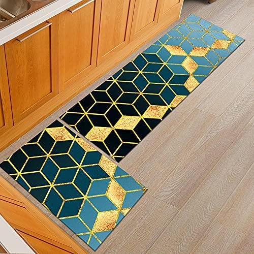 HLXX Alfombra de cocina, color negro, blanco, para puerta de entrada de baño, dormitorio, sala de estar, cabecera, alfombra A1, 50 x 160 cm