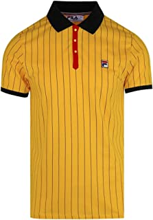 Vintage BB1 Borg Pinstripe Polo Shirt Gold Fusion/Black