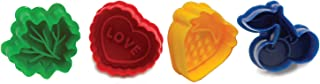 Norpro 3257 Pie Topper Cutters Cookie Stamp, Set of 4, Multicolored