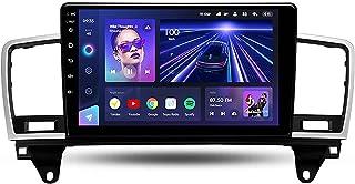 ré DLL Android 10.0 Estéreo de carro QLED HD Full touchscreen para Mercedes-Benz Classe M W166 ML 2011-2015, navegação GP...