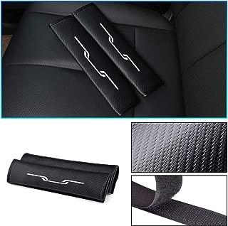 Maiqiken 2 Pcs Car Seat Belt Comfort Shoulder Pads Carbon Fiber With Red Reflective Stickers Safety Belt Covers For 208