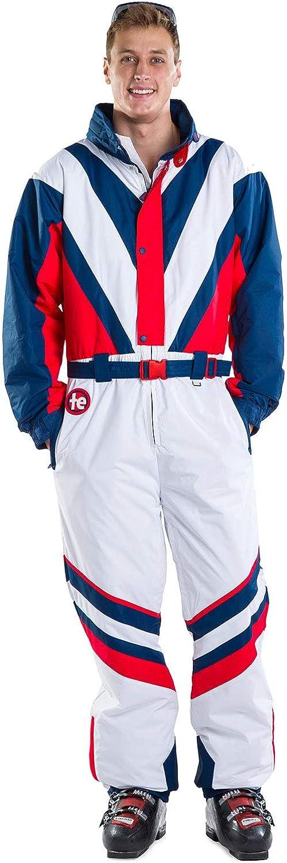 Tipsy Elves Men's Red White & blueee Freedom Ski Suit  High Performance Patriotic Ski Suit