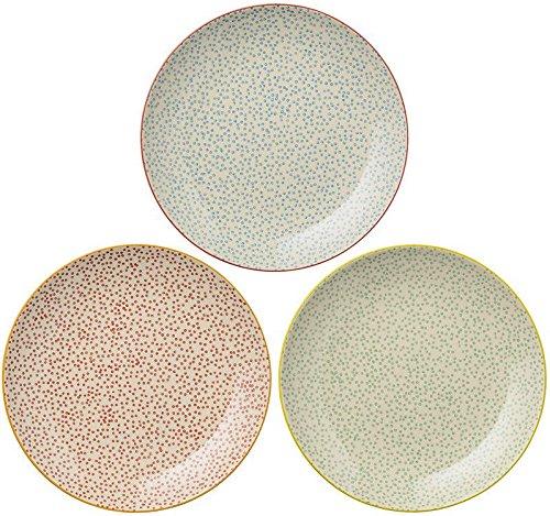 Bloomingville - Teller, Speiseteller, Essteller - Laura - Keramik - D: 25 cm - 3-teilig