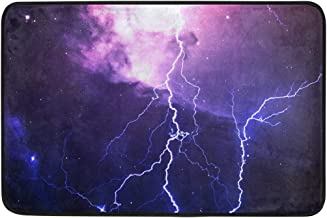 Mydaily Lightning Galaxy Doormat 15.7 x 23.6 inch, Living Room Bedroom Kitchen Bathroom Decorative Lightweight Foam Printe...