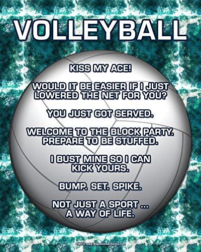 "Unframed Volleyball Player 8"" x 10"" Sport Poster Print"