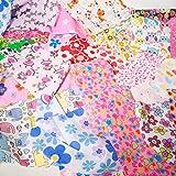 Stoffreste mit Kindermotiven, Mädchen-Tasche, 100g,