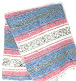 Mexitems Mexican Falsa Blanket Authentic 52' X 72' Pick Your Own Color (Pastel)