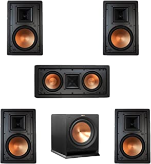 Klipsch 5.1 In-Wall System with with 2 R-5800-W II In-Wall Speakers, 1 Klipsch R-5502-W II In-Wall Speaker, 2 R-5800-W II In-Wall Speakers, 1 Klipsch R-112SW Subwoofer