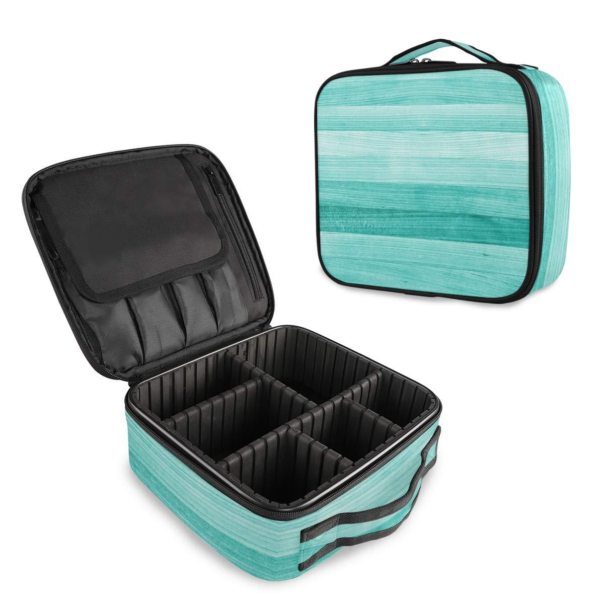 Travel Makeup Case Teal Genuine Ranking TOP7 Turquoise Portable Green Wood Organizer