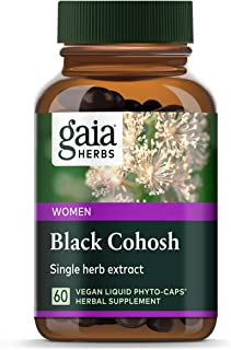 Gaia Herbs Black Cohosh, Vegan Liquid Capsules, 60 Count - Supports Healthy Menopause Transitions and Female Reproductive ...