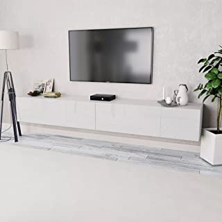 Tidyard 2xMesas para TV Mueble TV Salón Mesa Televisión Mueble Comedor Televisor Bajo de Estilo de Moderno PVC 120x40x34cm...