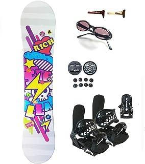 Symbolic 144cm Stella Rich Women's Snowboard Bindings+Sunglasses+Burton Decal Package
