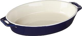 STAUB Ceramics Oval Baking Dish, 9-inch, Dark Blue