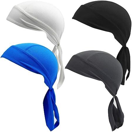 Sweat Wicking Cooling Helmet Liner Cap Beanie Bandana Head Wrap Hat Hot