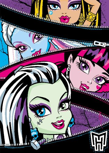 Monster High Abbey Bominable TM Cleo de Nile Draculaura Frankie Stein Tappeto Bambini Bambini Monster High Tappeto Gioco non può mancare in cameretta assenza di 95 x 133 cm