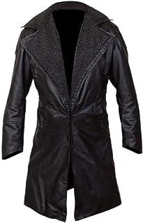 Pelle di piuma Mens abbigliamento Blade Runner 2049 Ryan Gosling Stonewashed Faux (sintetico) cappotto di pelle Faux pelli...