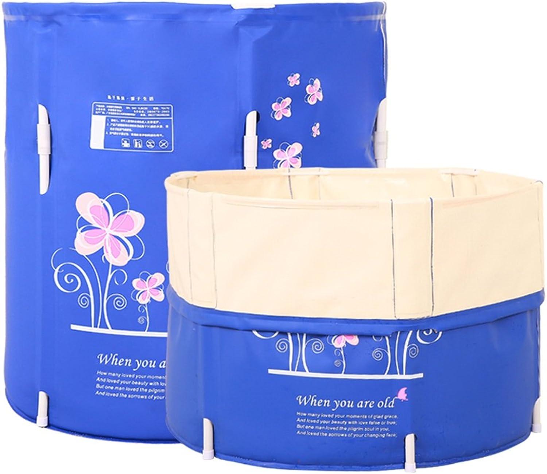XUANLAN Faltende Badewanne kann angehoben und abgesenkt werden, Badewanne für Erwachsene, dicker Kunststoff ohne aufblasbare Badewanne D70  H70CM