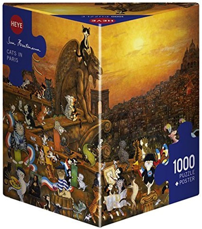 entrega gratis Heye    Cats in Paris Hartmann  Triangular Puzzles (1000-Piece, Multi-Colour) by Heye  más descuento