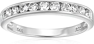 1/2 cttw Classic Diamond Wedding Band in 14K White Gold Channel Set