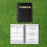 FORZA Cuaderno para Entrenadores de Fútbol con 100 Hojas – Plantillas de Juego para Entrenamientos (Formato A4/A5) (A5)