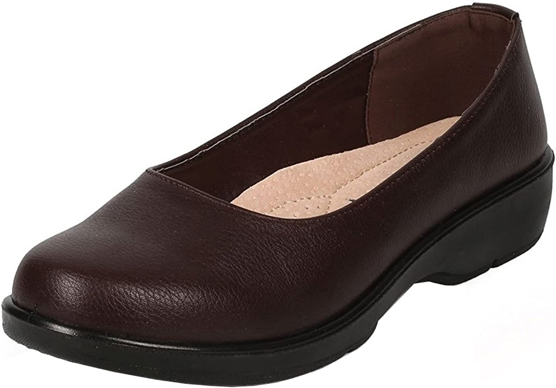 Refresh Footwear Women's Slip-On Round Closed Toe Non-Skid Comfort Ballet Flat