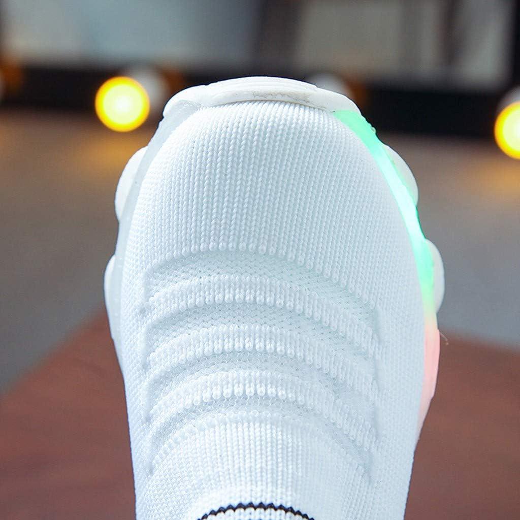 Scarpe Luci Led Bambini Neonato Ragazza Nere Led Sportive Per Ragazze Ragazzi Da Ginnastica Lampeggiante Luminosi Running Sneakers Con Luci Bright Traspirante Basso Ultraleggero Sport Baskets Shoes