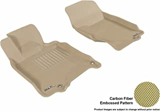 3D MAXpider Front Row Custom Fit All-Weather Floor Mat for Select Infiniti G35/G37 Models - Kagu Rubber (Tan)
