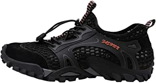 JJLIKER Men's Water Sport Shoes Barefoot Quick-Dry Aqua Socks for Beach Swim Surf Yoga Exercise Outdoor Pool Diving