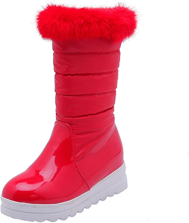 Summer-lavender Women Snow Boots Winter shoes Warm Black Wedges Fashion Slip On Platform Boots Wedges Cotton shoes