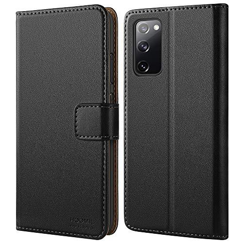 HOOMIL Handyhülle für Samsung Galaxy S20 FE Hülle, Premium Leder Flip Case Schutzhülle für Samsung Galaxy S20 FE Tasche (Schwarz)