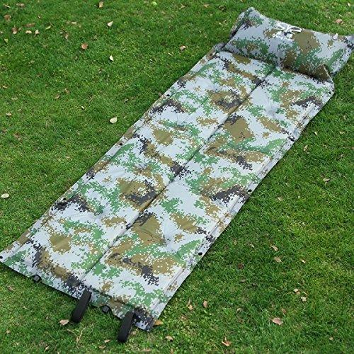 ZHANGHAOBO Peut être en Train De Coudre Camouflage Automatique Gonflable Pad Camping Digital Camouflage Moisture Pad