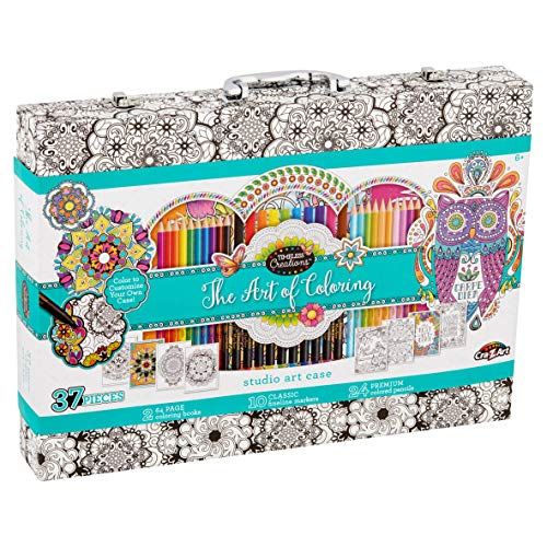 Cra-Z-Art Timeless Creations The Art of Coloring, Coloring Studio with Case