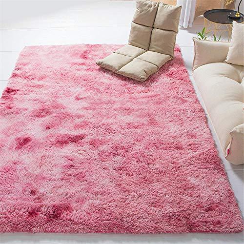 GUO-YANGH Teppich - Verdickter wasserdichter Antirutschmatten-Schlafzimmer-Wohnzimmer-Teppich Weiche Babymatte-Pink_80 * 160cm