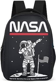 Mochila escolar de astronauta de la NASA, resistente al agua, con diseño de astronauta en la luna, para niños